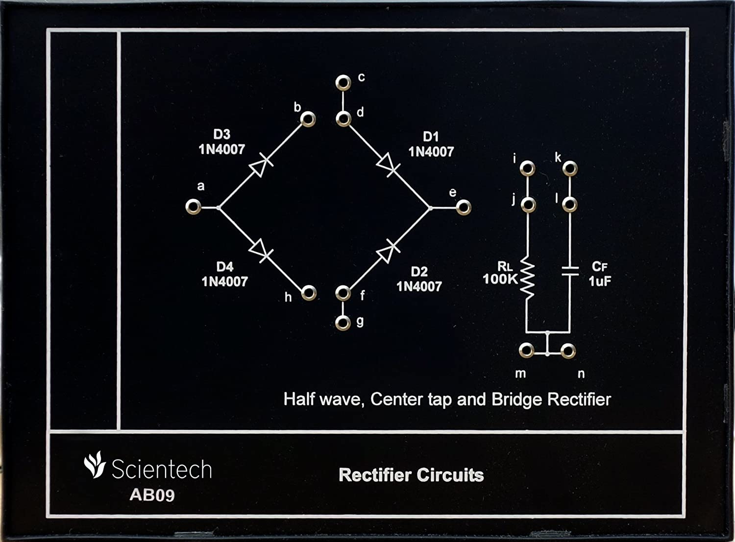 Ab09 Rectifier Circuits Experiment Board And Trainer Kit With 1 Full Wave Bridge Circuit Working Explanation Year Warranty Without Power Supply