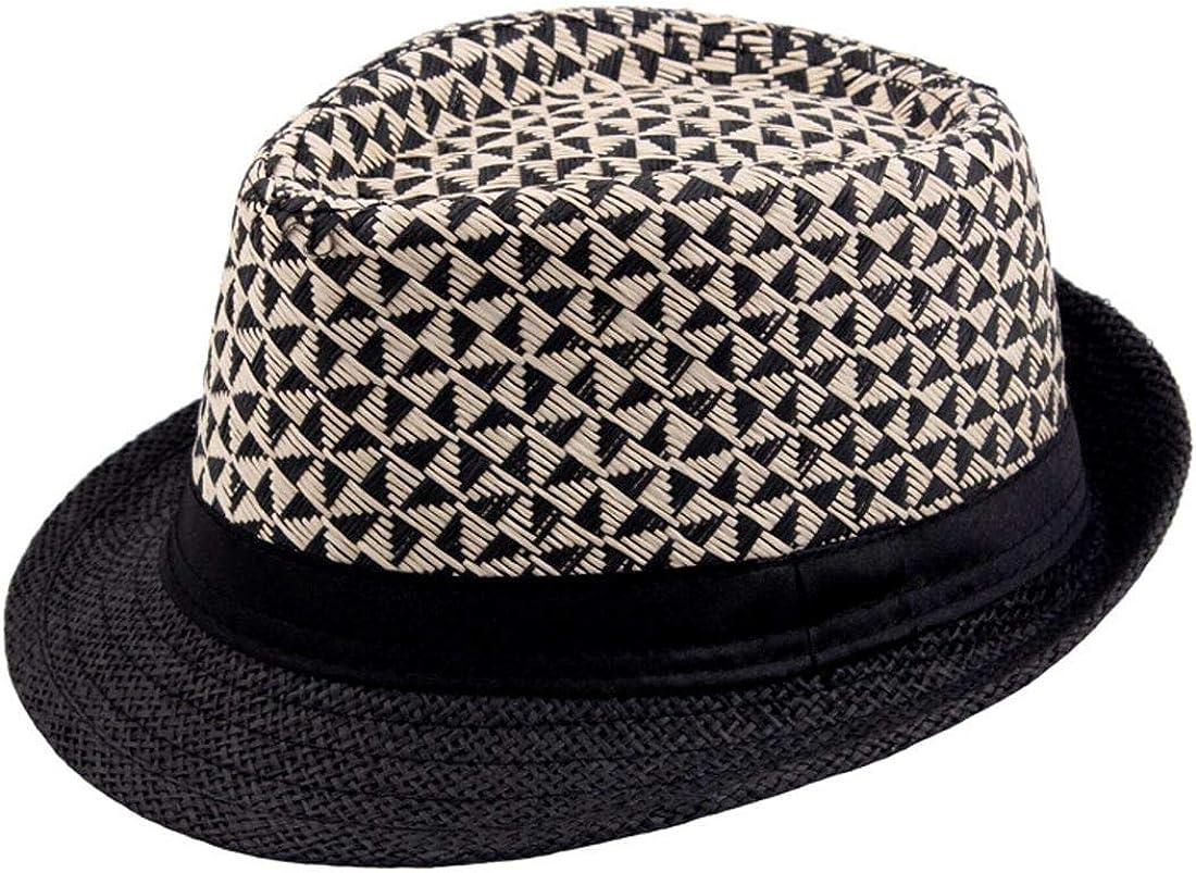 Charmylo Panama Cappello di Paglia Uomo Fedora Cappelli da Sole Donna Trilby Berretto con Lo Spago per Viaggiare Vacanze Escursionistiche allaperto in Estate 56-58CM