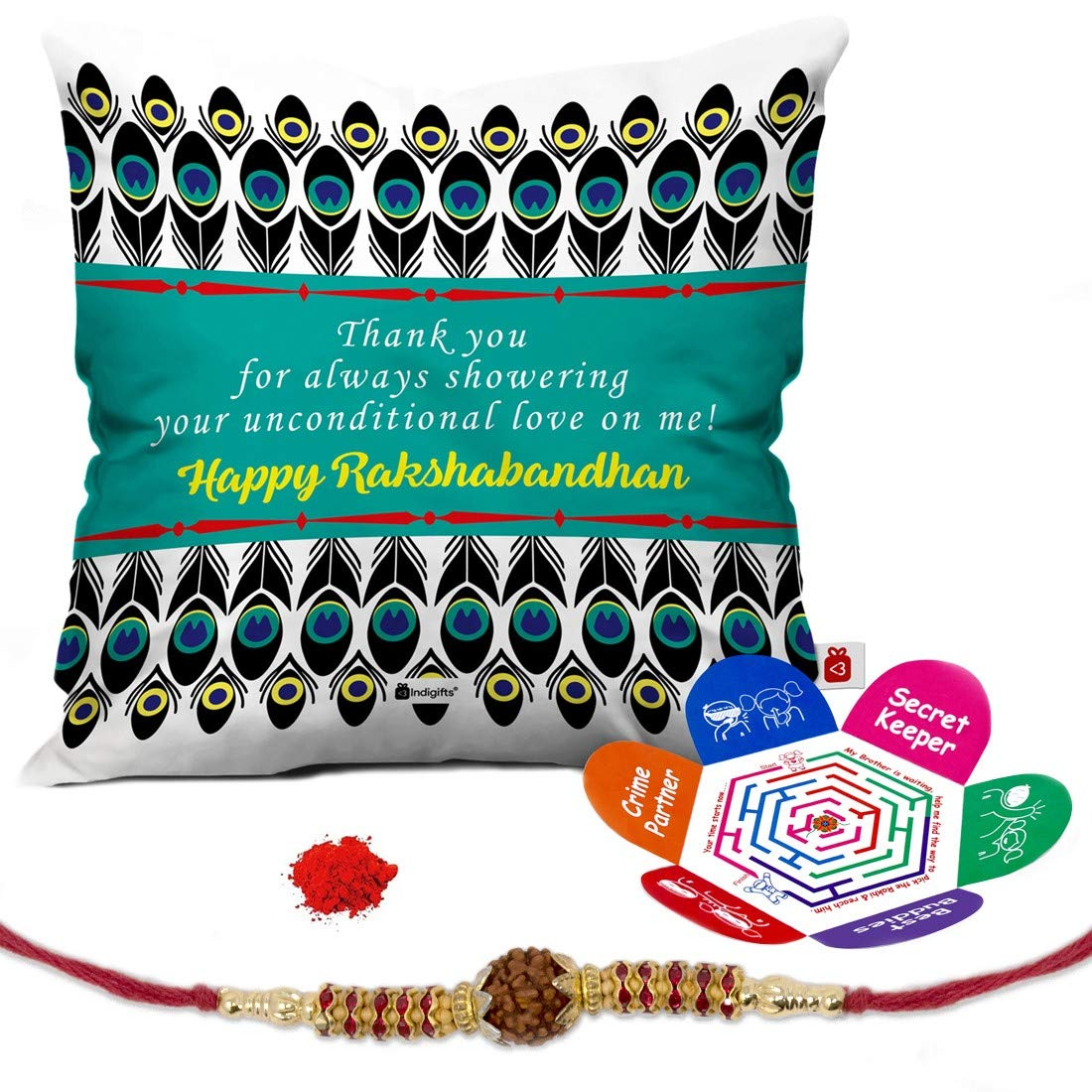 Indi ts Raksha Bandhan Gifts for Brother Set of Happy