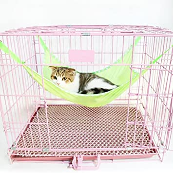 ishowstore pet hammock  fortable cat cage swing hanging bed cage accessories toys  s green amazon     ishowstore pet hammock  fortable cat cage swing      rh   amazon