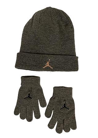 ... low cost nike boys youth 8 20 jordan jumpman cuffed knit hat gloves  5e028 066b4 b17499ea95d7