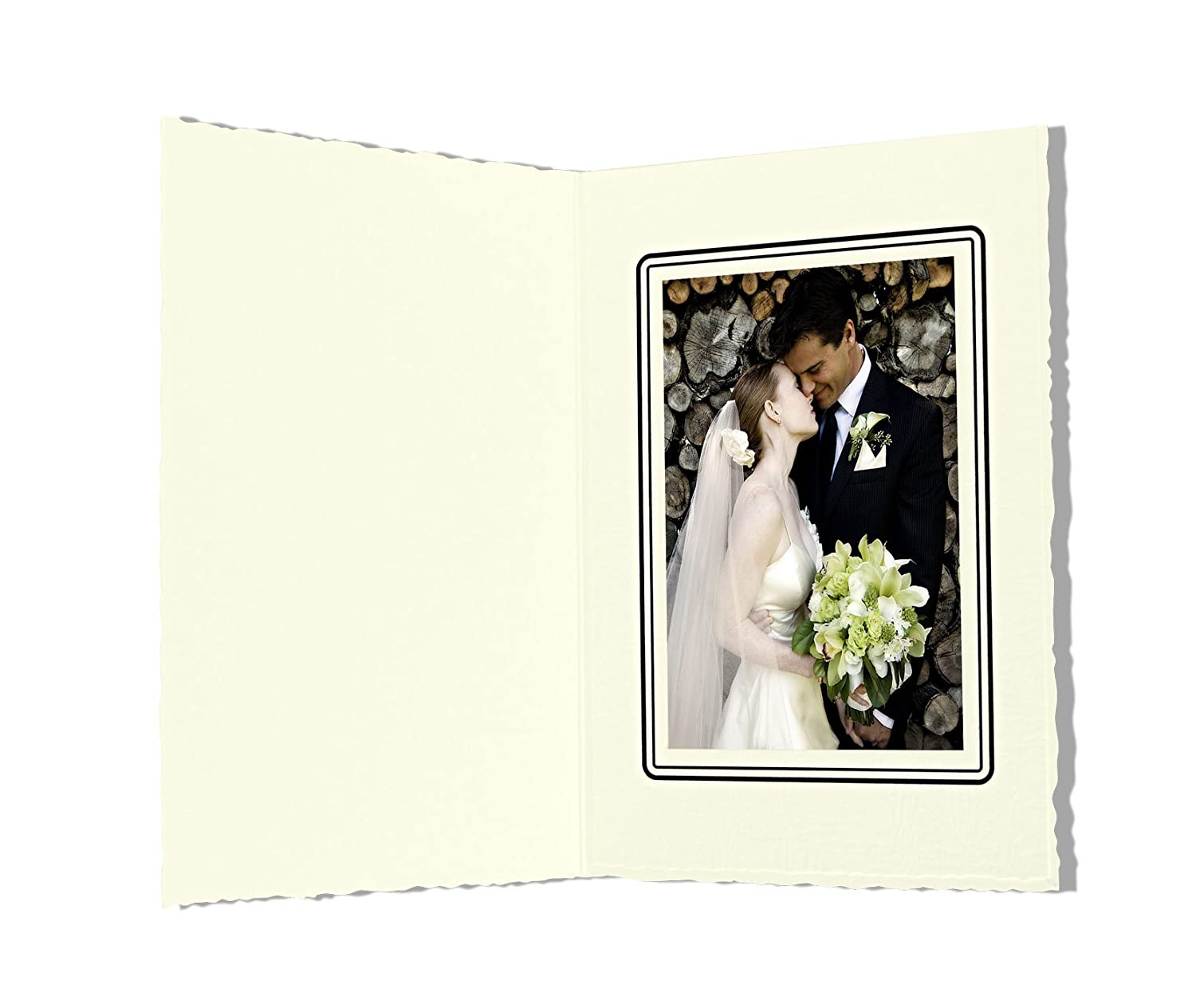 Golden State Art, Cardboard Photo Folder For a 3.5x5 Photo (Pack of 50) GS006 Ivory Color