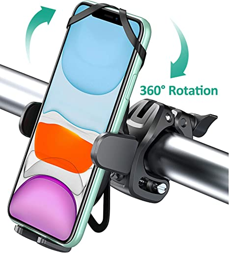 Bovon Silicone 360/° Rotation Phone Holder for Bike /& Motorcycle
