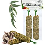 Exotic Nutrition Eucalyptus Sticks - Healthy Vitamin-Fortified Crunchy Chew Treat - Natural Treat for Sugar Gliders - Made wi