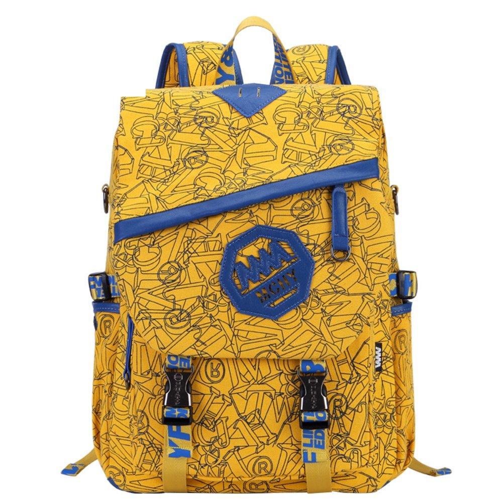 canvas shoulder bags for men and women/School of multifunctional wind Korean backpack/ student travel bag-I