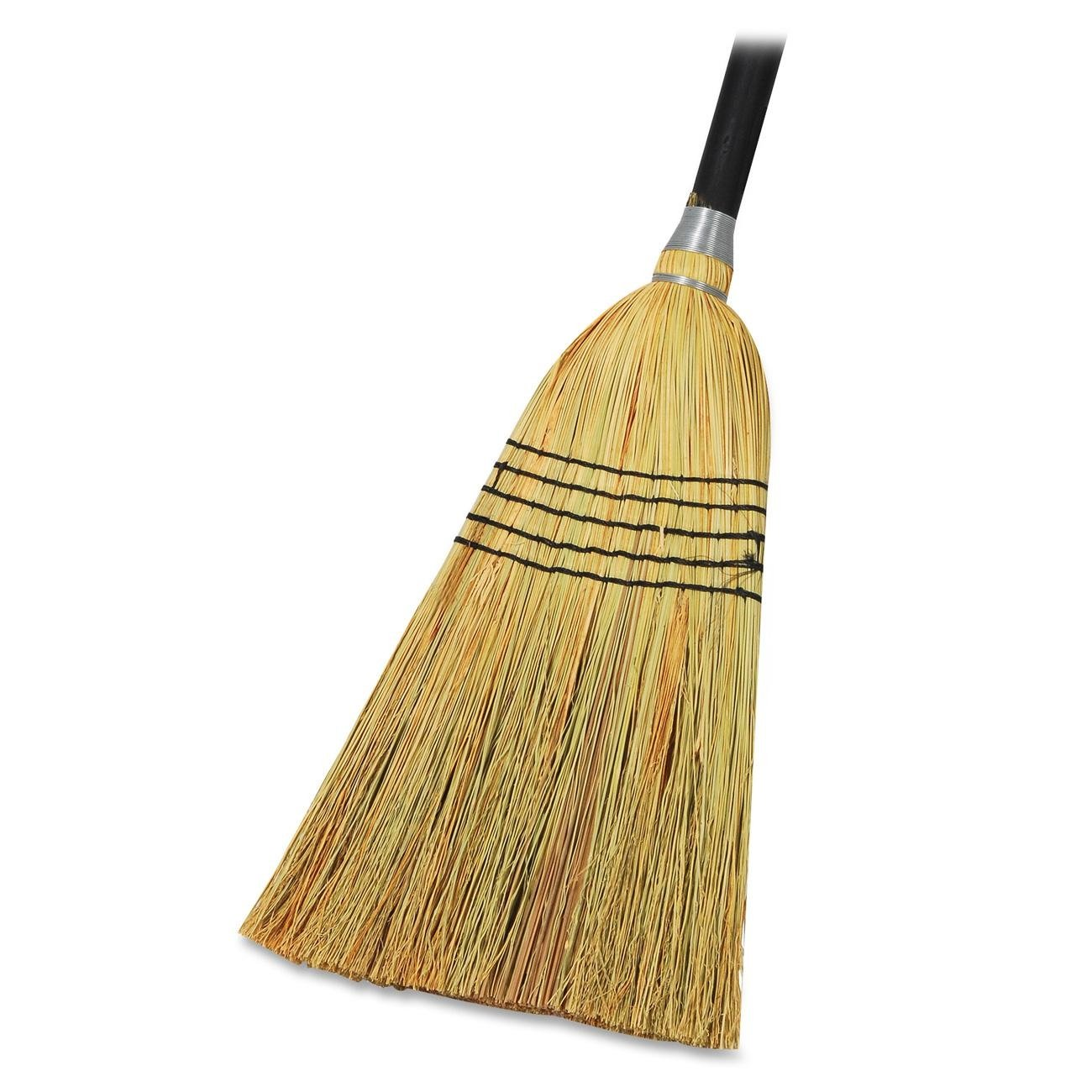 Genuine Joe GJO58563 Natural Fiber Janitor Lobby Blend Manual Broom, 56'' Handle Length, 11'' Bristles