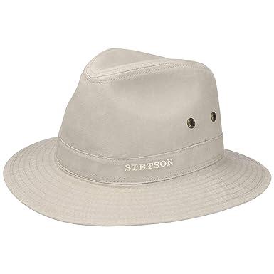 3a9d8b70 Stetson Chapeau Organic Cotton Traveller Homme | en Tissu de Soleil avec  Doublure Printemps-ete: Amazon.fr: Vêtements et accessoires