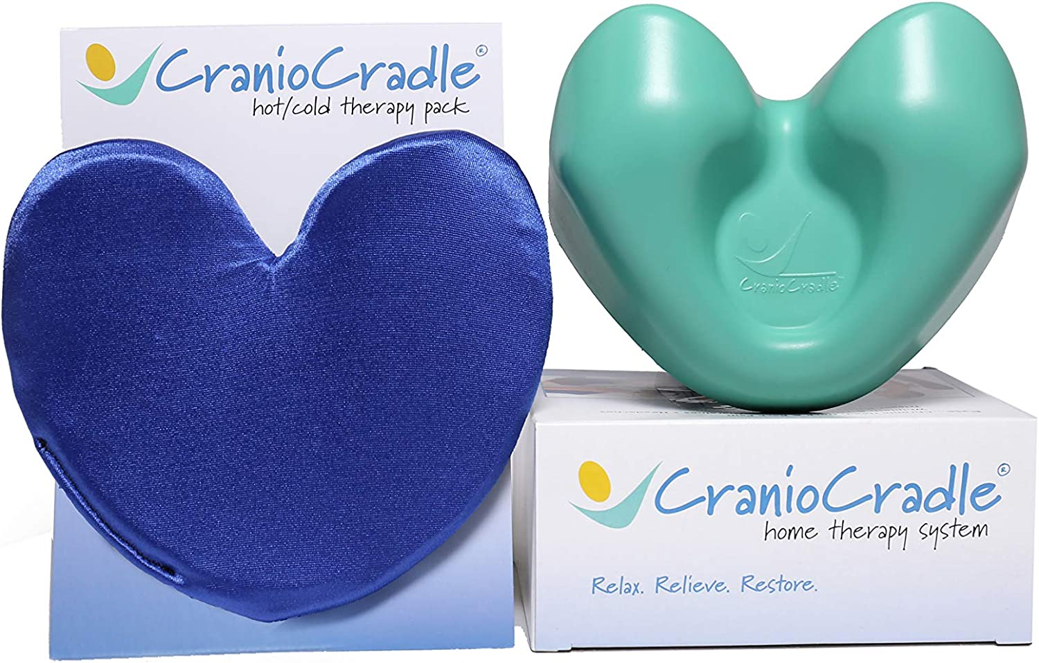 CranioCradle Home Therapy System Hot/Cold Therapy Pack - Quality Neck, Back, Shoulder - Soft Tissue Massage, Trigger Point Relief, Myofascial Release & Physical Therapy