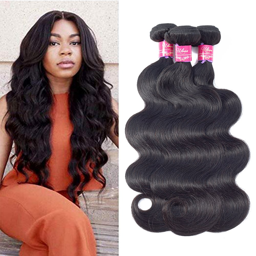 Amazon Ulove Hair Brazilian Virgin Hair Body Wave 3 Bundles