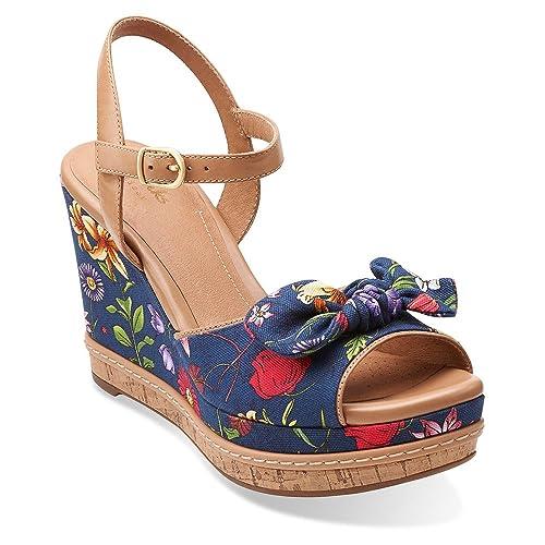 a67efb1cb7fd CLARKS Women s Amelia Joyce Wedge Sandals