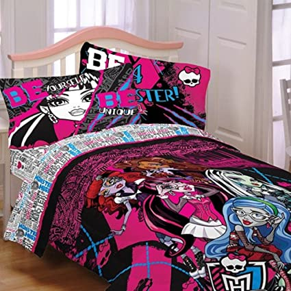 Monster High Ghoulie Gang Bedding Bed In A Bag Twin Full Comforter And Sheets