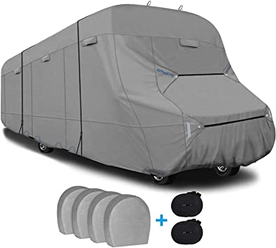 Breathable Exceptional Polypropylene Weather Protected Fabric System Ultimate Heavy Duty Heat Shield 23 Feet-26 Feet Class C RV Waterproof Cover