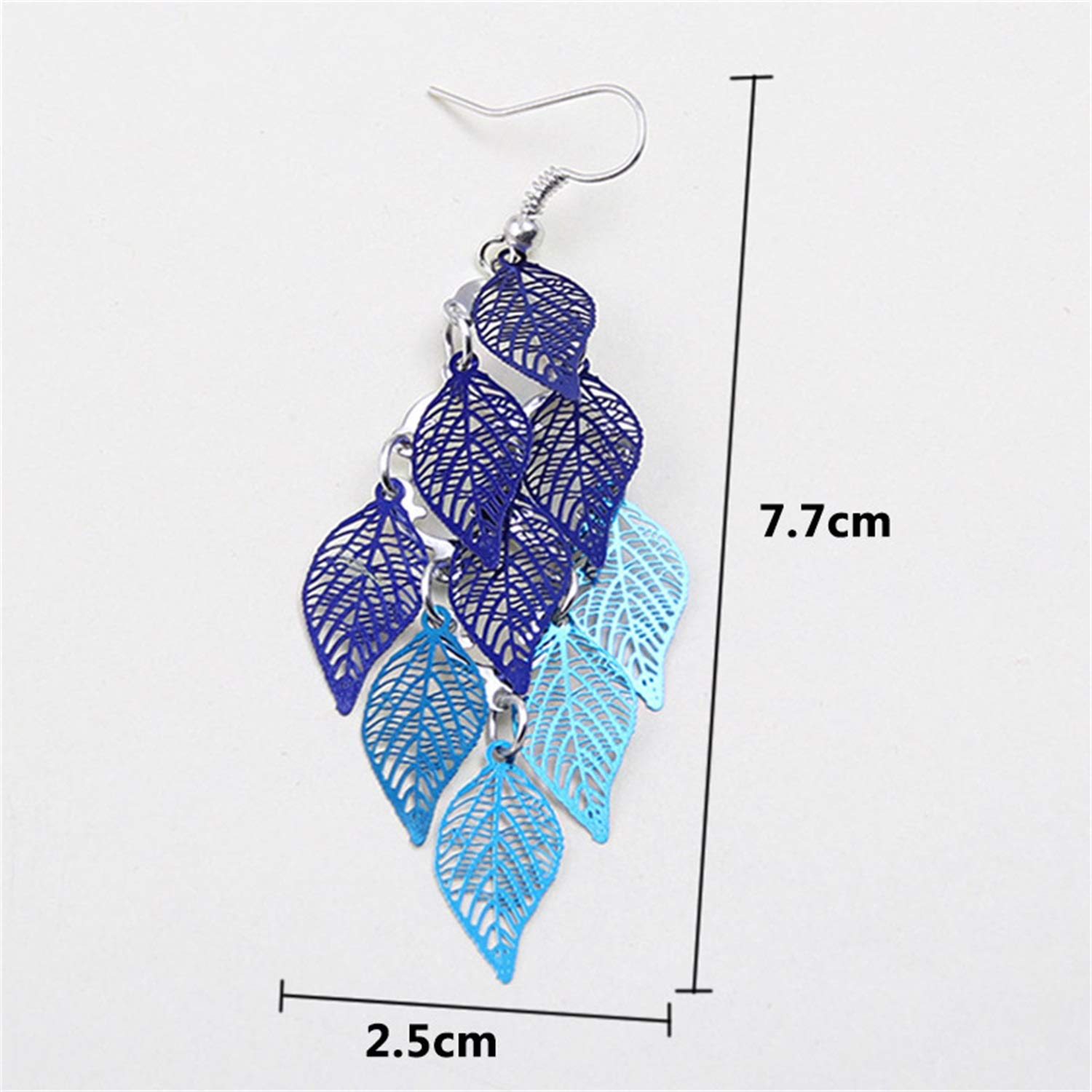 Bnialaed Dangle Earrings 1Pair Hot Sale Tassel Drop Earring Candy Color Hollow Leaves Party Long Valentines Gift Gifts Bohemian 7 Colors Colours