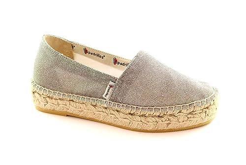ALPARGATAS TOMMY noche brillo zeppetta plata cuerda mesetas 41: Amazon.es: Zapatos y complementos