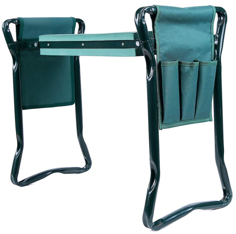 Ohuhu Garden Kneeler and Seat with 2 Bonus Tool Pouches