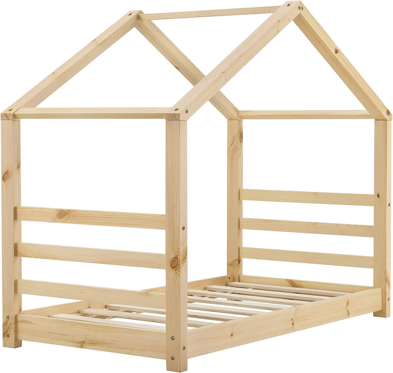en.casa] Cama para niños de Pino 70 x 140 cm Cama Infantil Forma ...