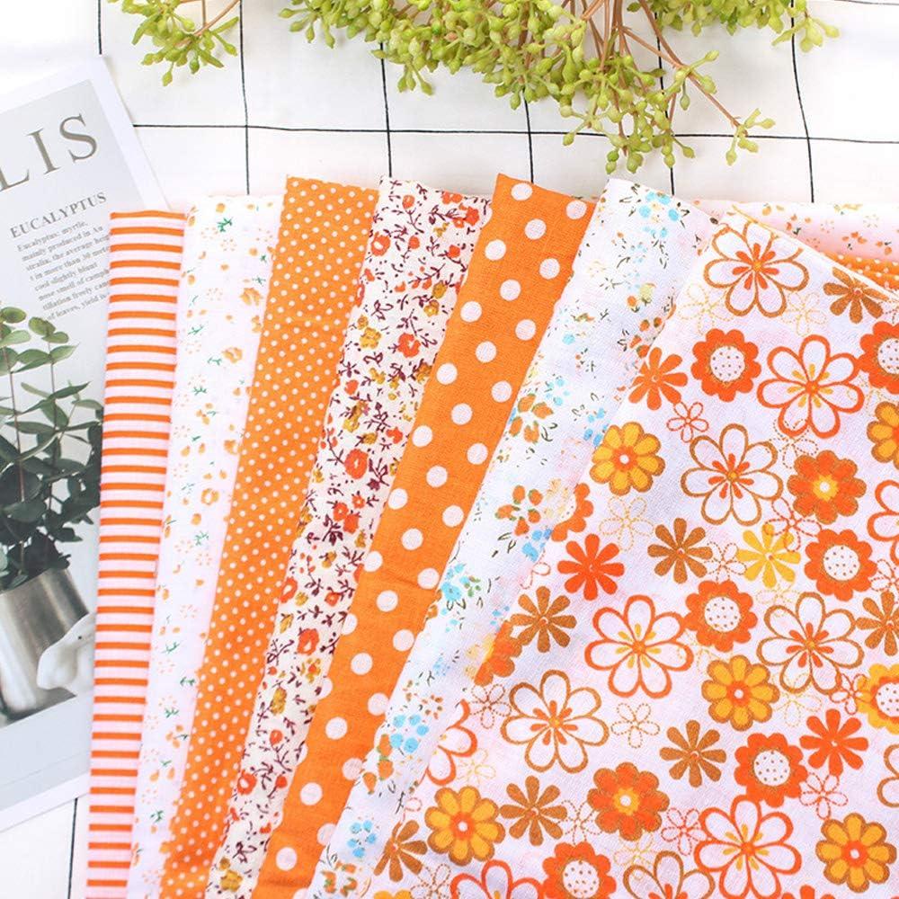 7 piezas de 50 * 50 cm tela de Algodón y lino utilizada para la ...