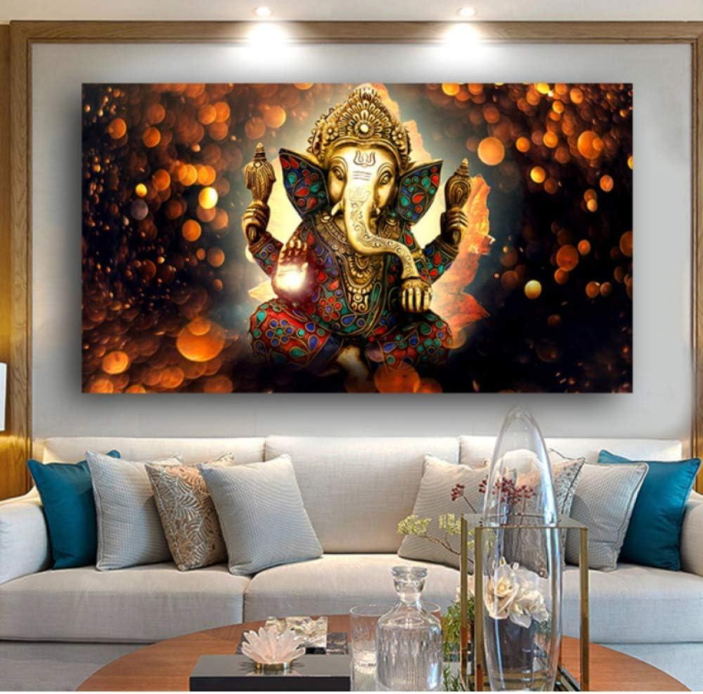 Arte Impresiones en lienzo 1 piezas Buda dibujo lienzo cuadros abstractos pared para sala de estar dormitorio decoración del hogar-70 * 105cm