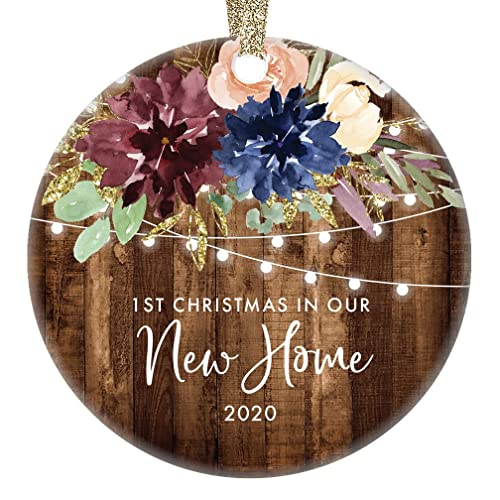 High End Client Christmas Gifts 2020 Amazon.com: Rustic First Christmas New Homeowners Ornament Country