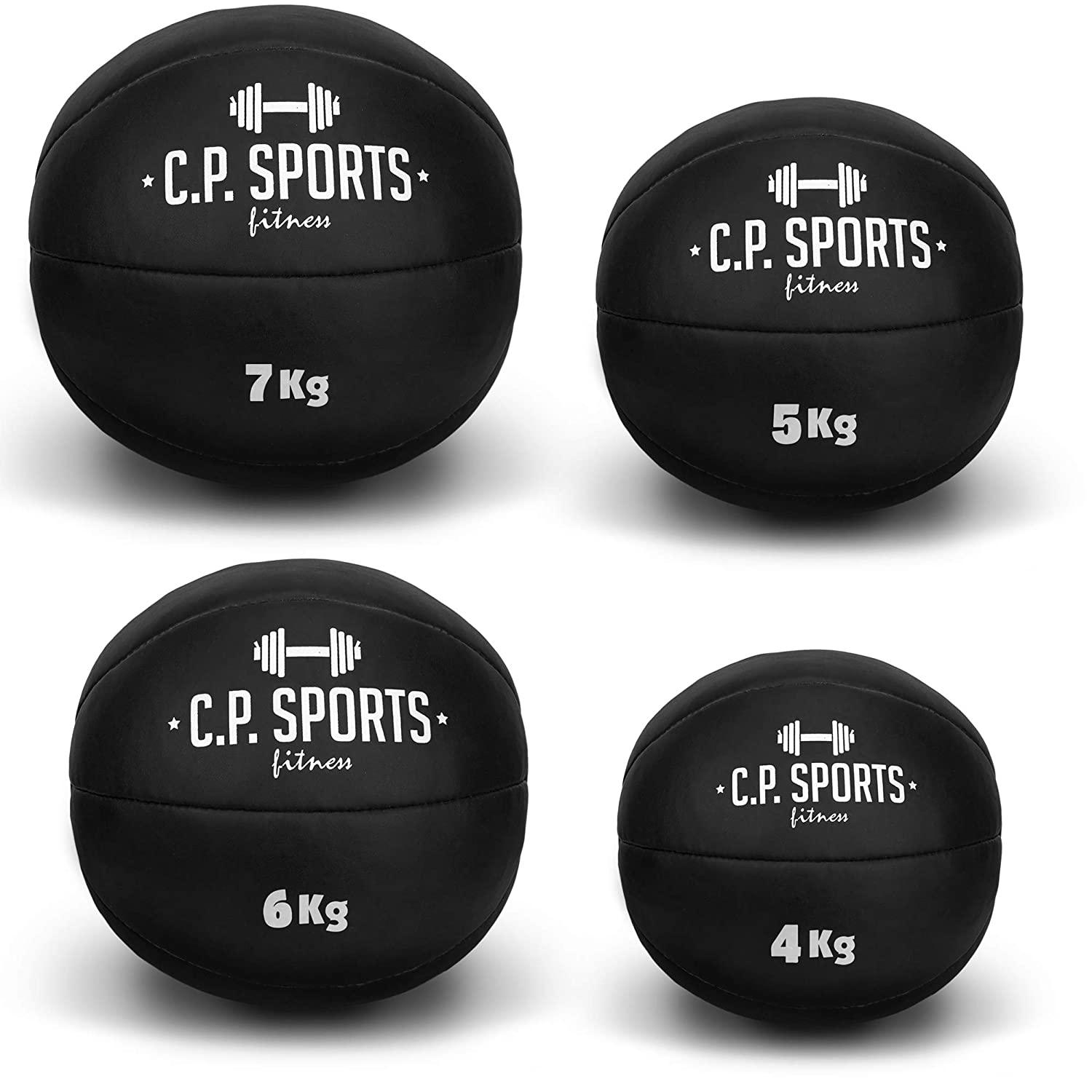 C.P. Sports - Balón Medicinal (para Crossfit, Disponible en Pesos de 1 a 10 kg C.P.Sports