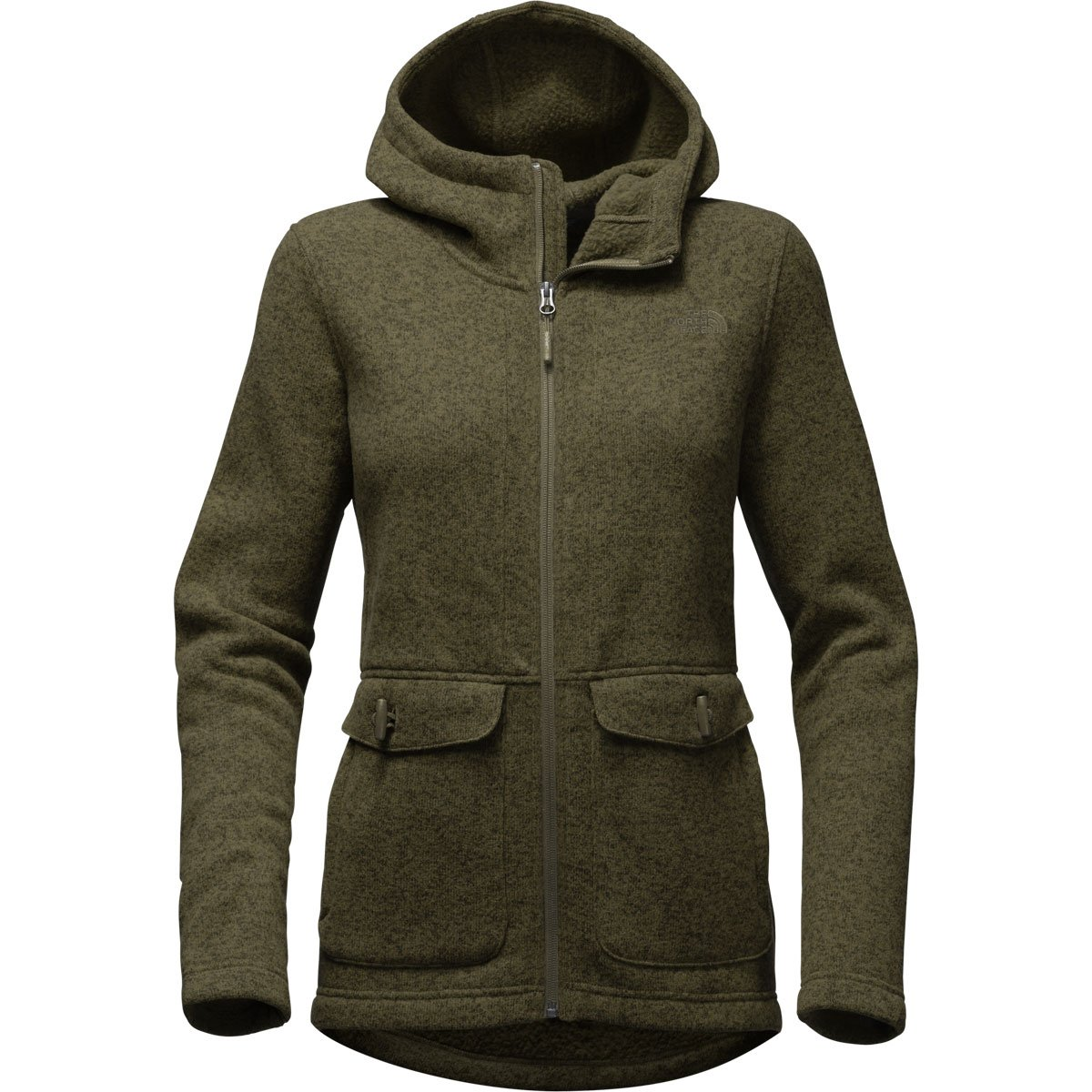 The North Face Women's Crescent Parka New Taupe Green Heather (Small)