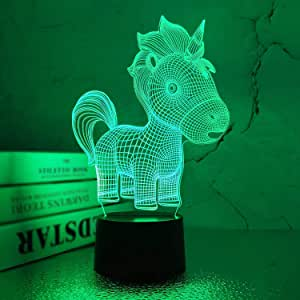 FULLOSUN Unicorn Gifts for Kids 3D Night Light for Girls- Led 3D Illusion Lamp 7Colors Changing Baby Room Decor Lighting As Birthday Girls Boy Kids