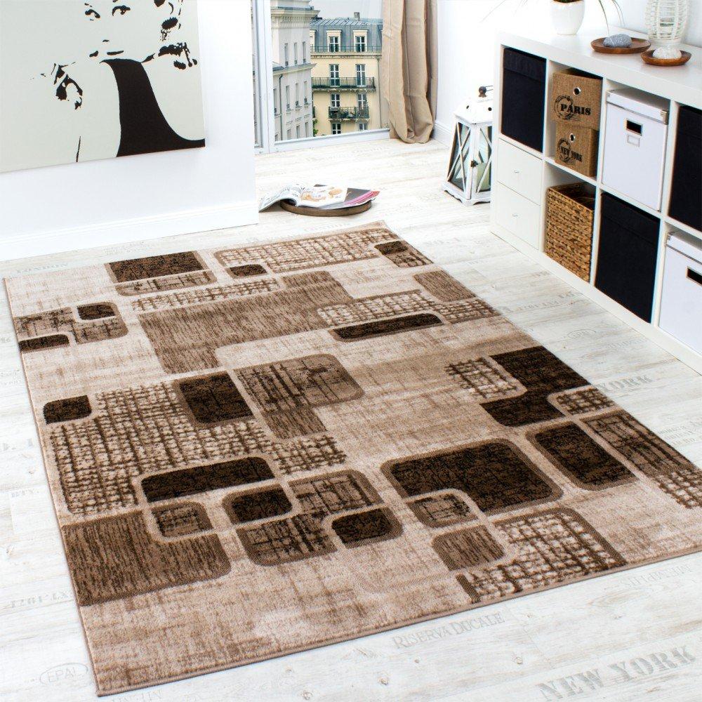 Künstlerisch Teppich Für Wohnzimmer Beste Wahl Designer Retro Muster In Braun Beige Preishammer,