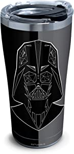 Tervis Star Wars Vader Trooper 18/8 Stainless Steel Insulated Travel Tumbler & Lid, 20 oz, Silver