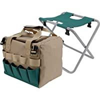 Gardening Stool Seat, Tear Resistant Garden Chair, Wear‑Resisting with Bag Folding for Camping Garden