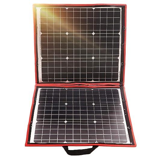 DOKIO Kit de monocristalina panel solar de 80W 12V batería ...