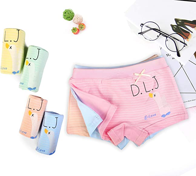 7a3bdfdb6b7c Girls Underwear Toddler Little Hipster Boyshort Kids Briefs Cotton Panties  5 Pack