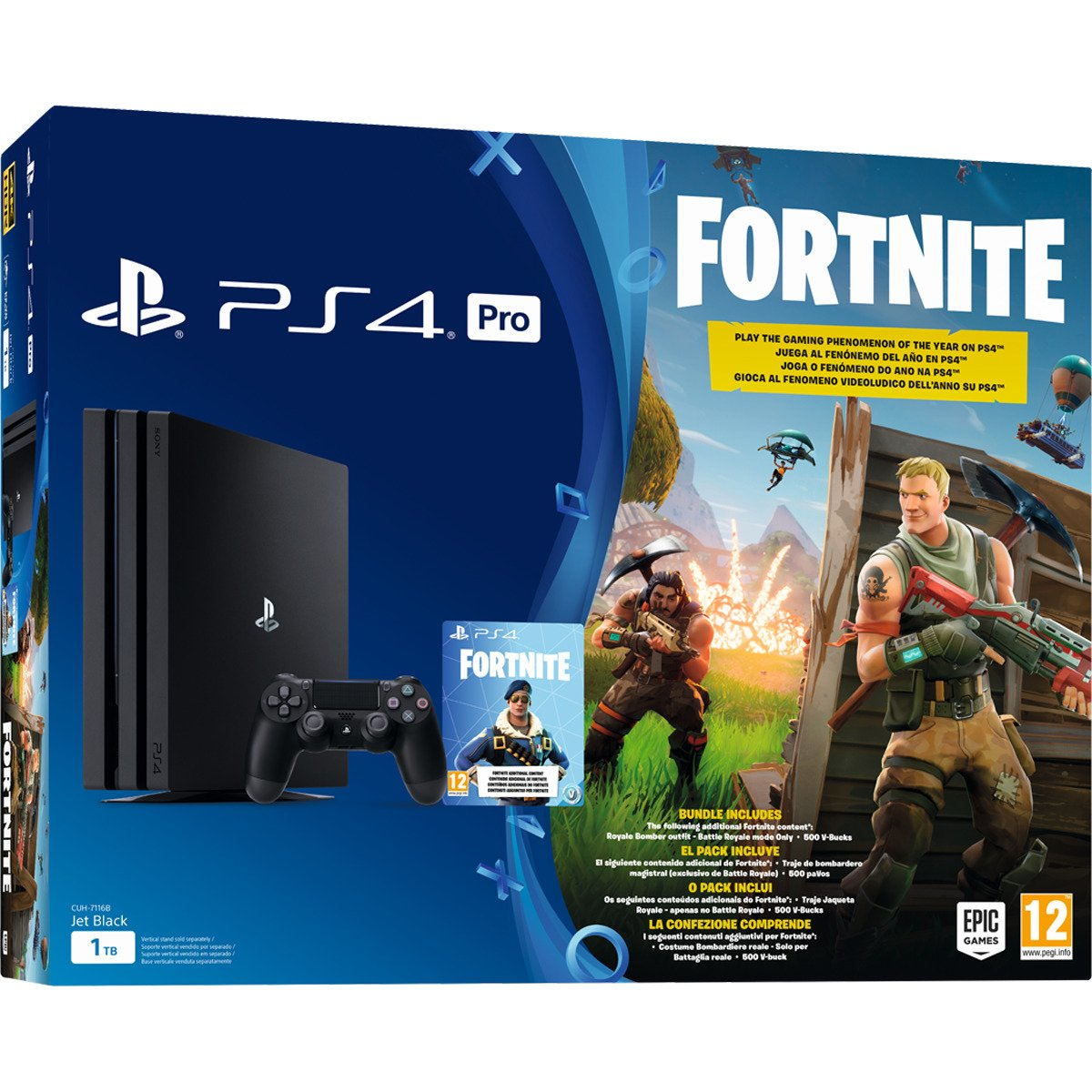 PlayStation 4 (PS4) - Consola Pro 1Tb + Fortnite Voucher: Sony ...