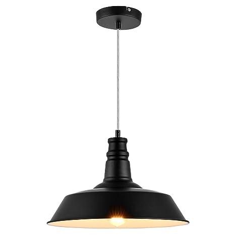 [Lux.pro] Lámpara estilo vintage colgante - E27 - negro / blanco - Lámpara De Techo moderna