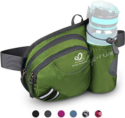 California Bear 3 Sport Waist Pack Fanny Pack Adjustable For Travel