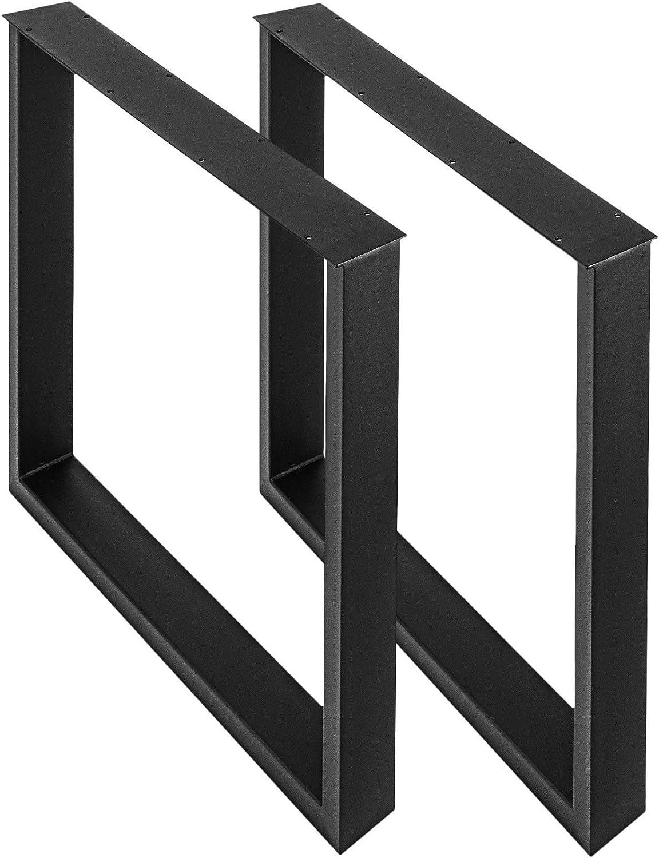 28 X-frame Flat Metal Legs 15 Width Modern Metal Dining Table Legs Height 26 To 32 Set 2