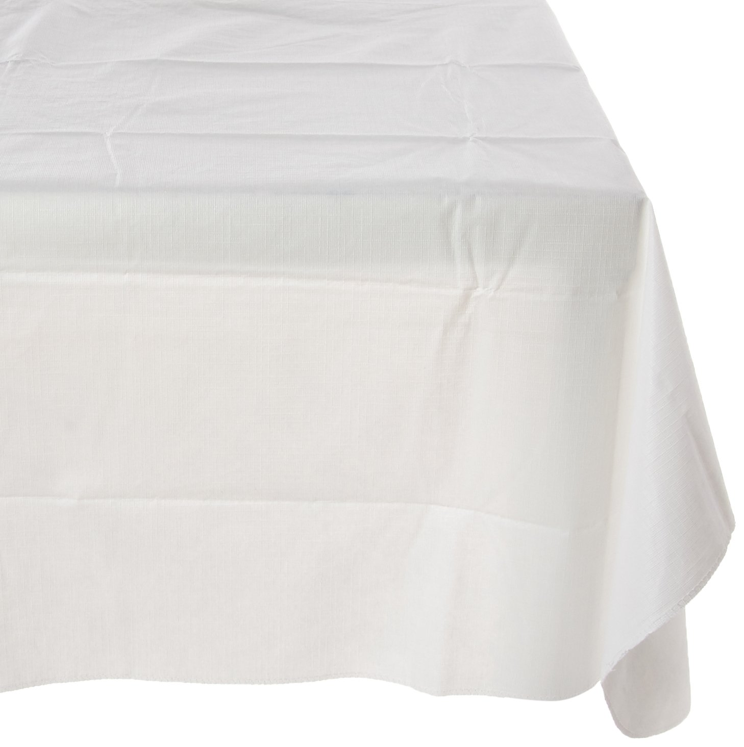 Amscan White Flannel-Backed Vinyl Table Cover | Party Tableware, 6 Ct.