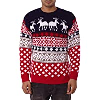 NOROZE Mens Unisex 70's Jumpers Sweater Retro Christmas Knitwear Top