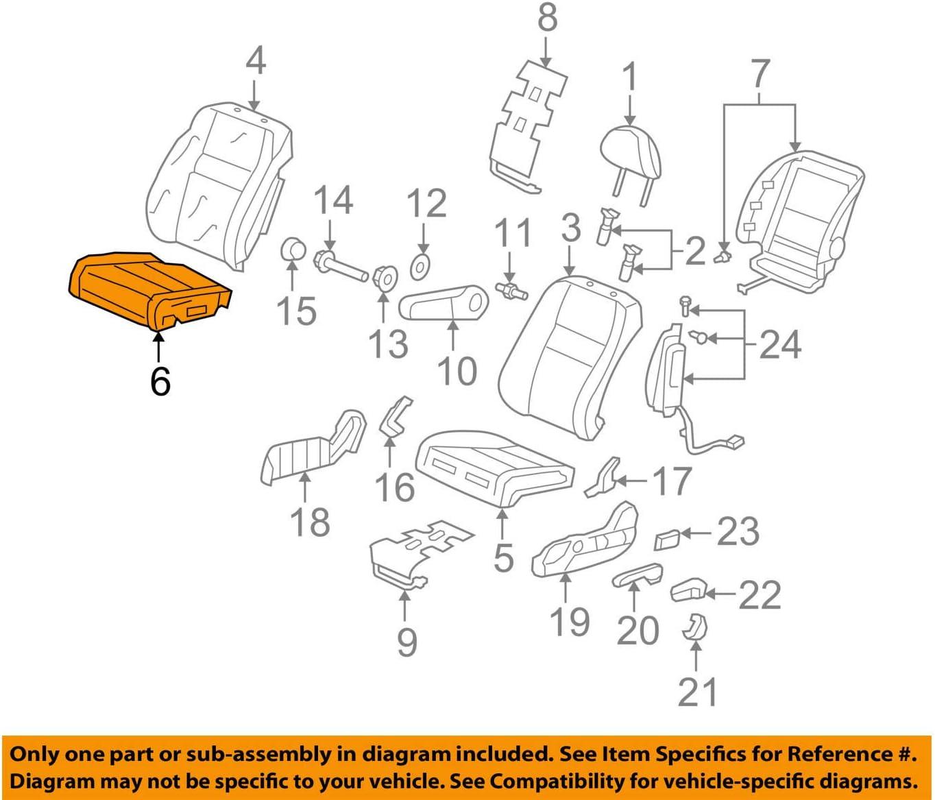Front Left Honda Genuine 81531-S9V-A01ZA Seat Cushion Trim Cover
