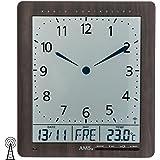 Horloge Murale Moderne Avec Mouvement Radio-commandé, Pendule Radio-pilotée, Fonctionnement à Batterie AMS Horloge Radio 24cm- 5893