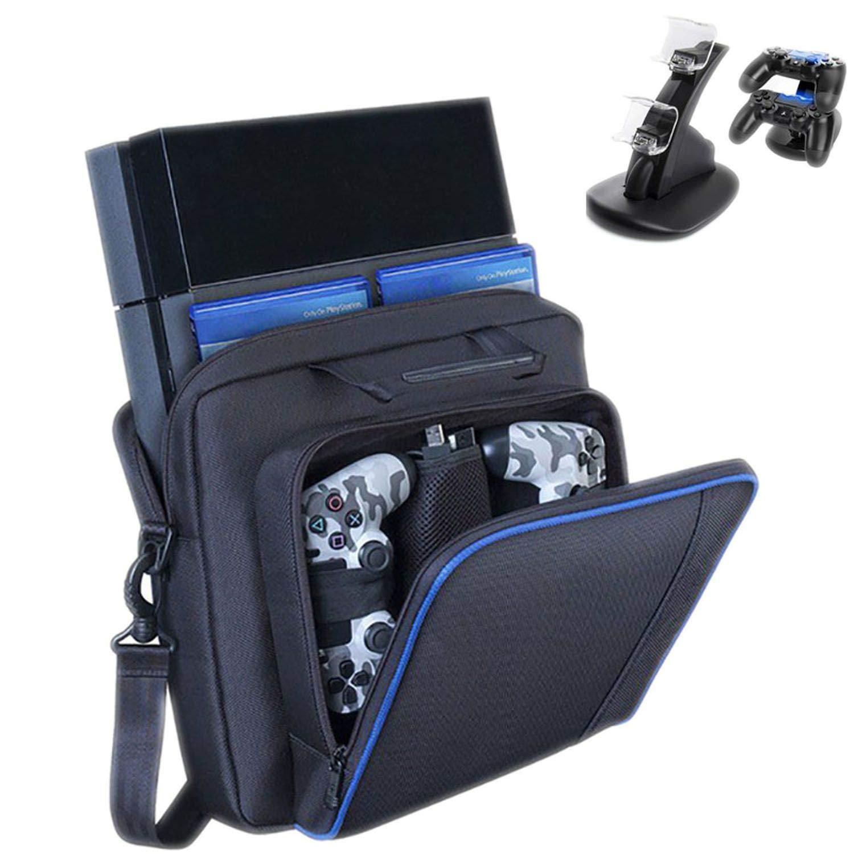 Large Travel Storage Carry Bag for PS4/Slim Protective Shoulder Bag Handbag Console for Sony Playstation 4 Console Game System Bag,T3