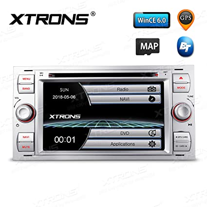 Amazon Com Xtrons Silver 7 Hd Touch Screen Car Stereo Dvd Player With Gps Navigator Bluetooth Rds Radio Screen Mirroring Function For Ford Focus S Max Mondeo Kudos Map Card Included Car Electronics