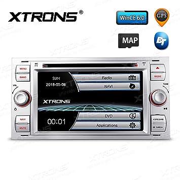 xtrons® Plata 7 Pulgadas HD de pantalla táctil estéreo del coche reproductor de DVD con
