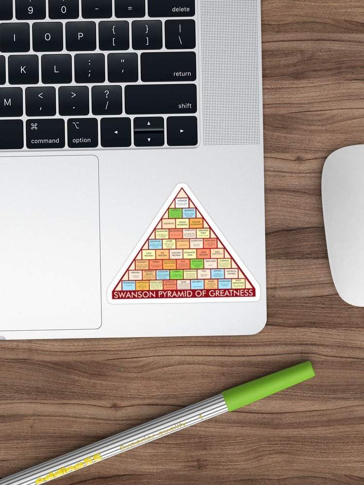 BeliNZStore Ron Swanson - Pegatinas de pirámide de la ...