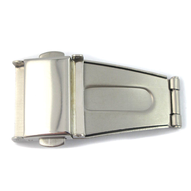 Youyoupifaシルバー時計バンドバックルSingle Folding Safety Clasp snaps-22 mm  B074J7P398