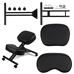 DRAGONN Ergonomic Kneeling Chair, Adjustable Stool for Home and Office