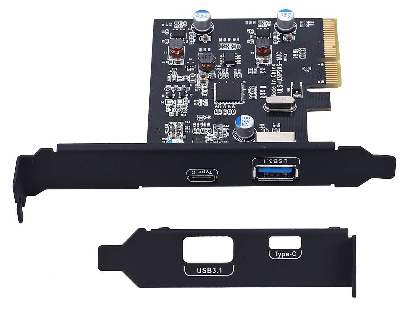 TOTOVIN PCI-E PCI Express to USB 3.1 Gen 2 (10 Gbps) Type A+Type C Expansion Card Asmedia Chipset for Windows 7/8/8.1/10/Linux Kernel (Type A+Type C) by TOTOVIN (Image #5)