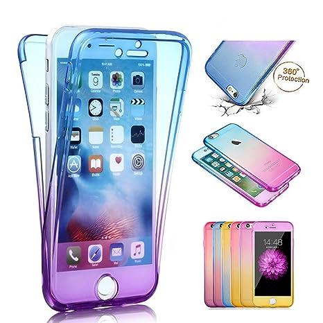 coque iphone 7 plus 360 degres gel