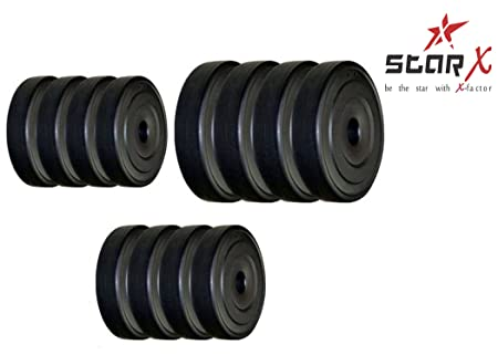 Star X Home Gym Exercise Set of PVC Weights Plates