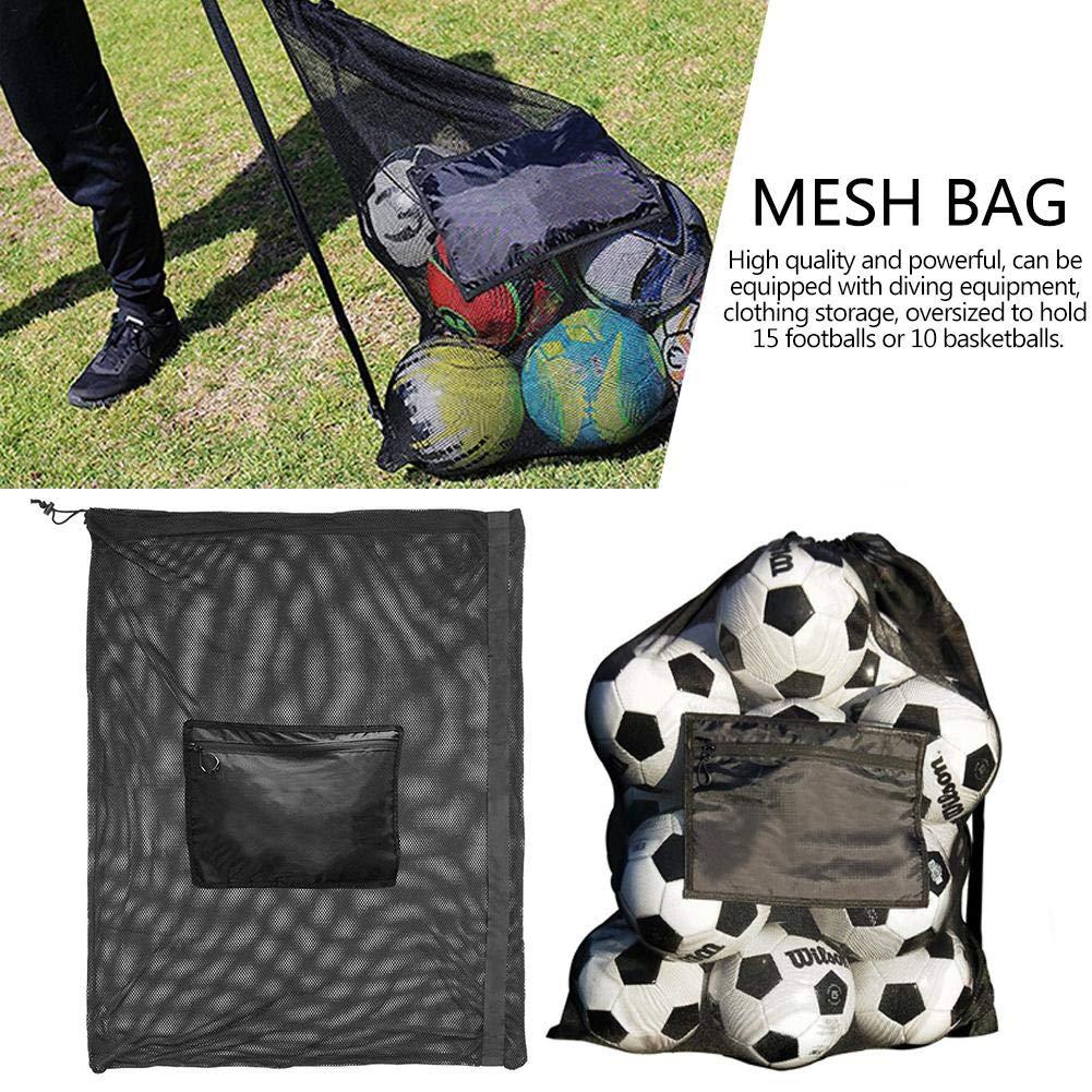 094f6e4a0f25 Amazon.com: decwang Large Storage Mesh Bag with Strap for Football ...