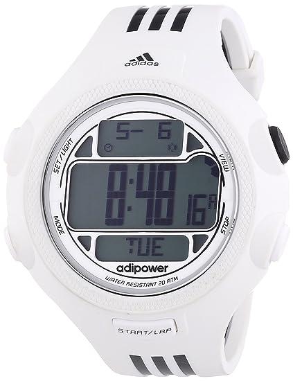 adidas Adipower - Reloj de cuarzo para hombre, con correa de nailon, color blanco: Amazon.es: Relojes